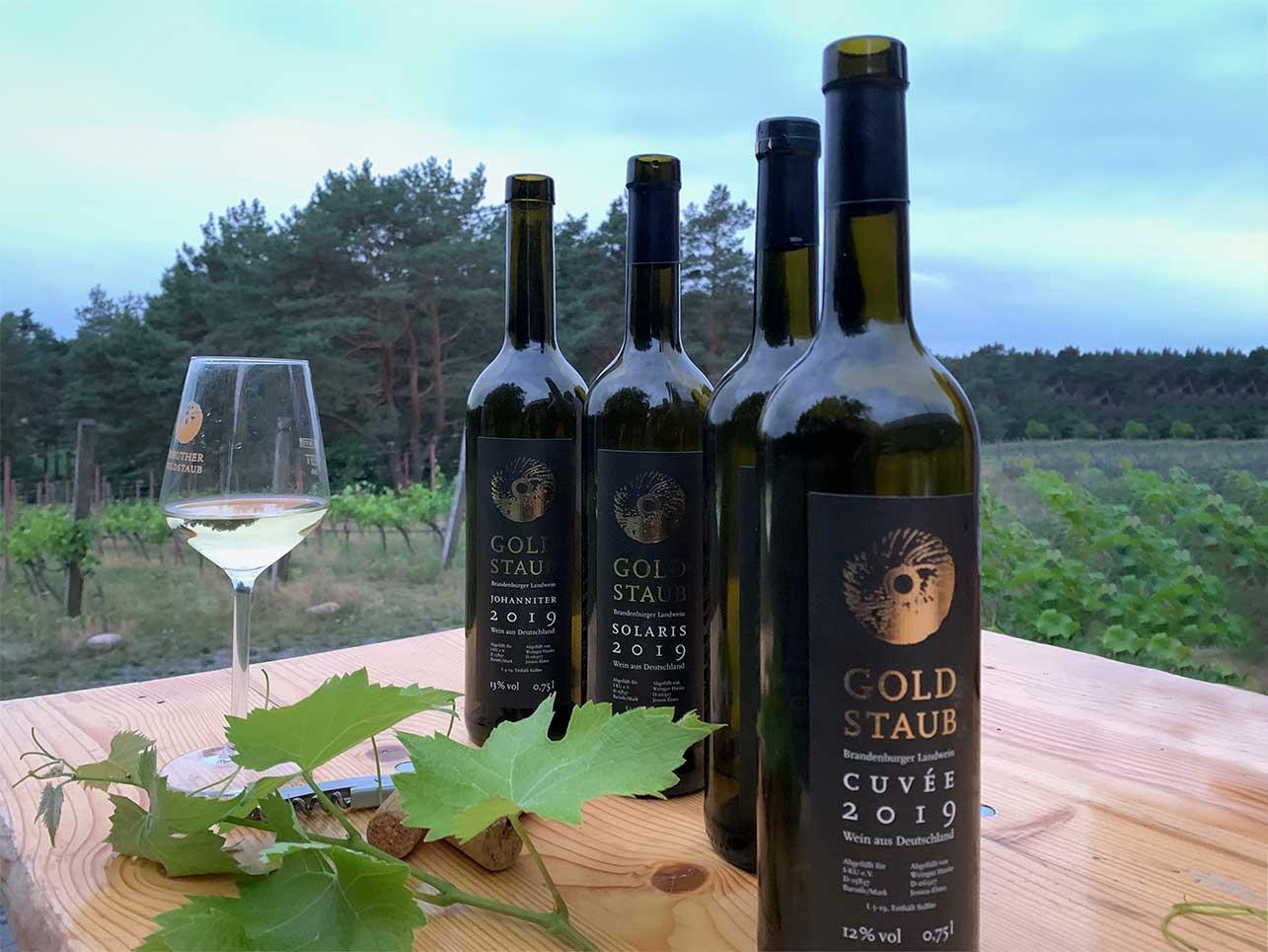 … auf den Etiketten der Weinsorten wieder.